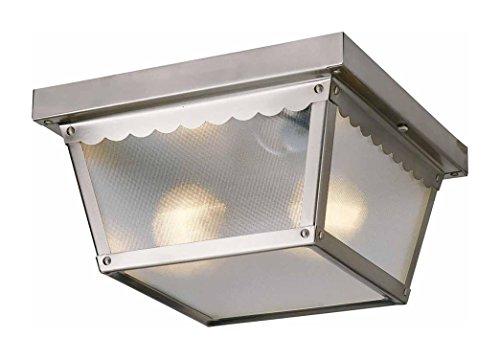 Volume Lighting V7232-33 2-light Outdoor Ceiling Mount Brushed Nickel
