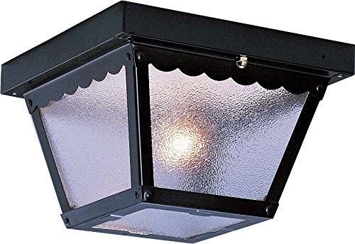 Volume Lighting V7232-5 2-light Outdoor Ceiling Mount Black