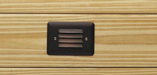 Kichler 15782AZT Landscape LED Low Voltage Aluminum Step Landscape Deck Lighting Bronze