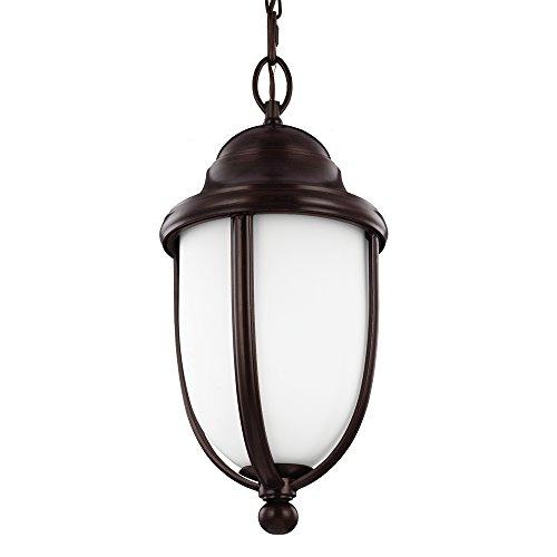 Feiss OL10111HTBZ 1-Light Outdoor Hanging Light Fixture Heritage Bronze Finish