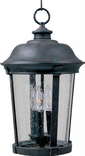 Maxim Lighting 3028CDBZ Dover Cast 3-Light Outdoor Hanging Lantern Bronze