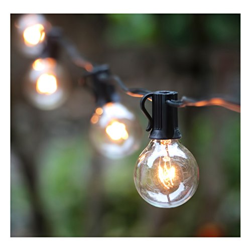 100ft G40 Globe String Lights With Bulbs-ul Listd For Indooroutdoor Commercial Decor