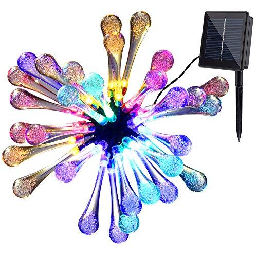 Solar Outdoor String Lightsgdealer 20ft 30 Led Water Drop Solar String Fairy Waterproof Lights Christmas Lights