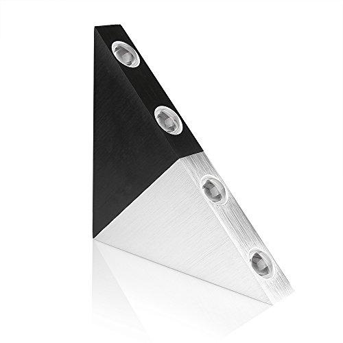 Lemonbest® Modern Triangle 5w Led Wall Sconce Light Fixture Indoor Hallway Up Down Wall Lamp Spot Light Aluminum