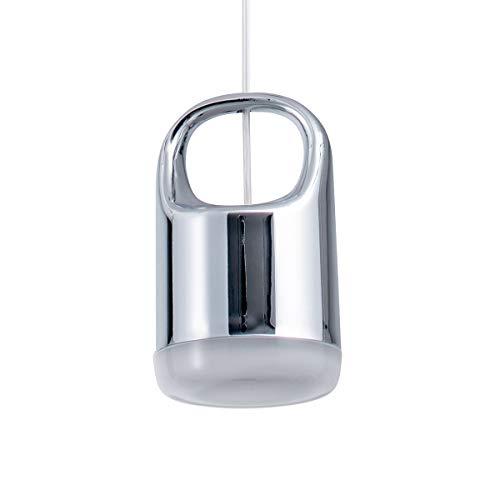 Bewamf Mini LED Pendant Lighting Modern Acrylic Ceiling Hanging Lights Contemporary Light Fixture for Kitchen Island Dining Room Bedroom Bar Chrome