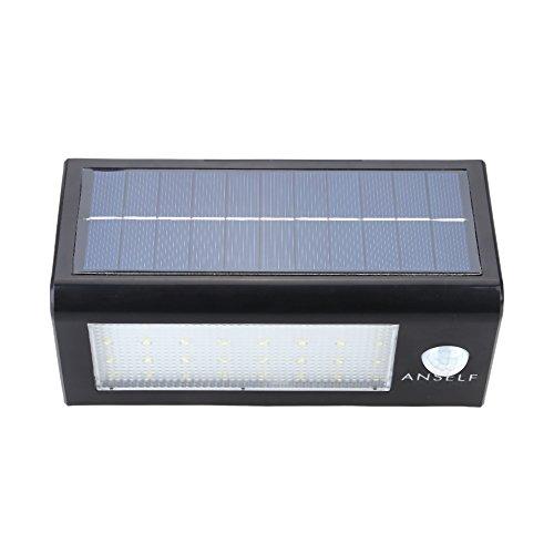 Anself Sensitive Motion Sensor 32 LED 400lm Solar Power Lamp Wall Light Water Resistant Bright Stairway Outdoor Garden Lighting