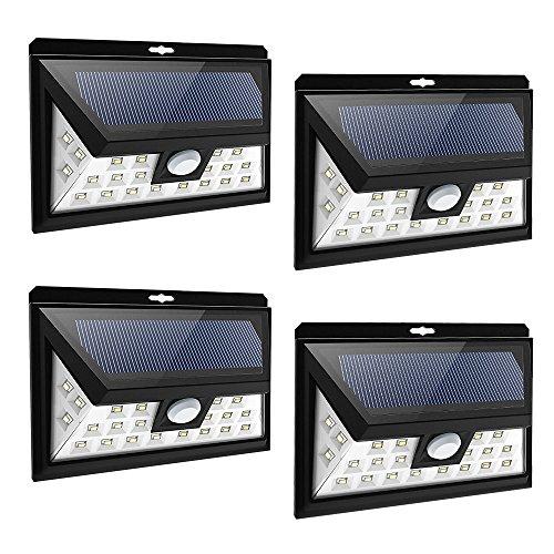 Litom 24 Big Led Solar Power Lights Waterproof Wide Angle Solar Lights Outdoor Garden Lighting 4pack