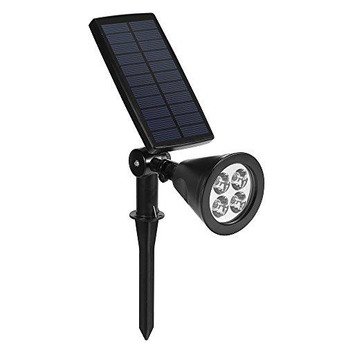 dostyle solar spotlights bigger solar panels 2in1 350 adjustable 4 led lights outdoor waterproof landscape