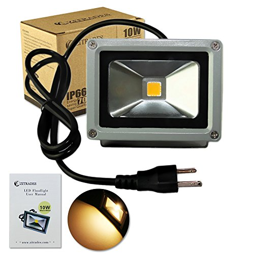 Zitrades Flood Light Led Outdoor Spotlight 10w Warm Color Led Christmas Lights For Tree Ip65 Waterproof Security