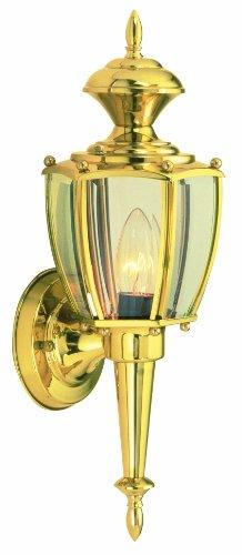 Design House 502526 Jackson 1 Light Indooroutdoor Wall Light Solid Brass
