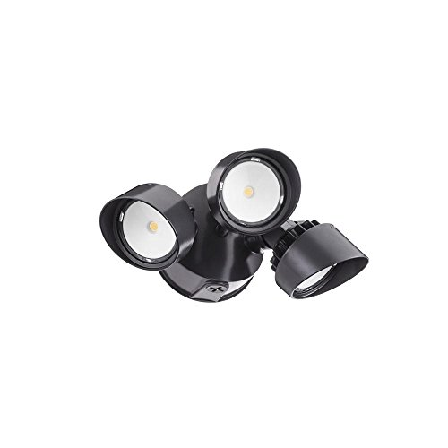 Lithonia Lighting Olf 3rh 40k 120 Bz M4 3-head Outdoor Led Round Flood Light, Black/bronze