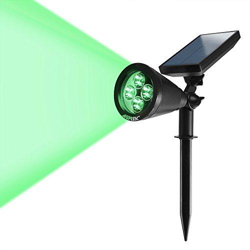 180&degangle Adjustable Agptek New Version 200 Lumens Solar Wall Green Lights Bright Solar Led Light Outdoor Rechargeable