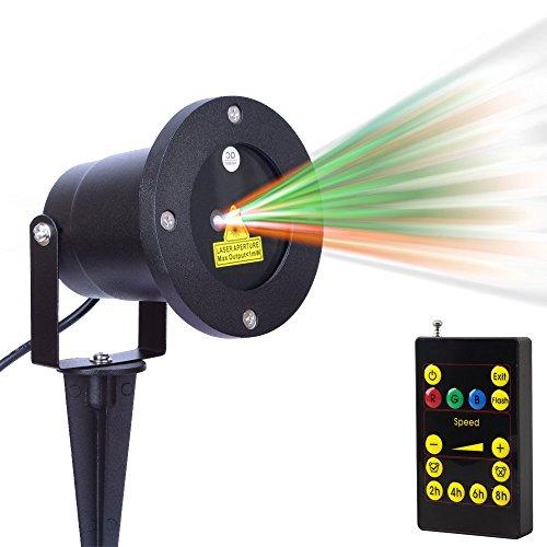 Escolite Landscape Lights Laser Party Christmas Lights Spotlights Green Red Ip65 Waterproof Star Projector Outdoor