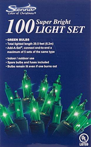 Sienna 100 Add-a-set Bulb Green-color Indooroutdoor String Lights