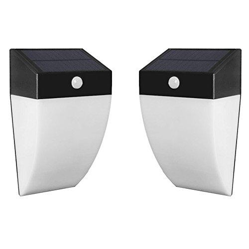 Amposei Outdoor Solar Powered 36 Led Light Motion Sensor Energy Saving Waterproof Lamp Pack Of 2