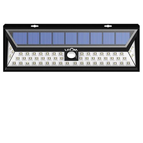 Litom Super Bright Solar Lights 54 Led Solar Energy Power Outdoor Motion Sensor Lights For Driveway Yard Garden