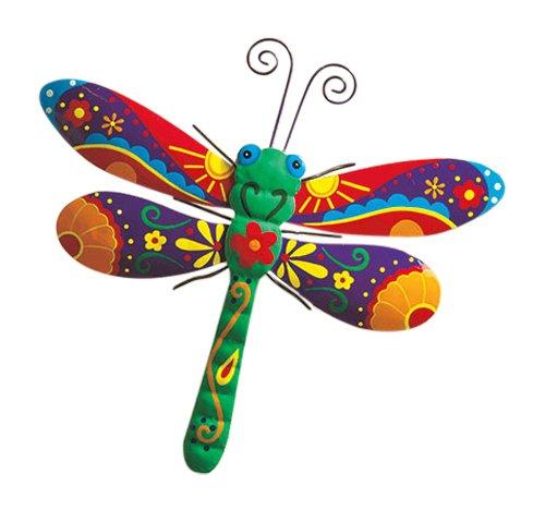 Dragonfly Painted Metal Garden Art