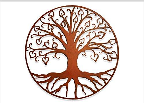 Tree of Life Hearts Metal Garden Art
