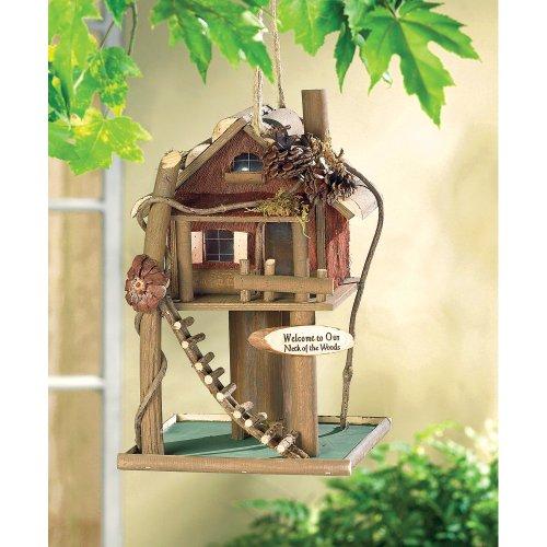 Koehlerhomedecor Outdoor Garden Accent Tree House Bird House Feeder