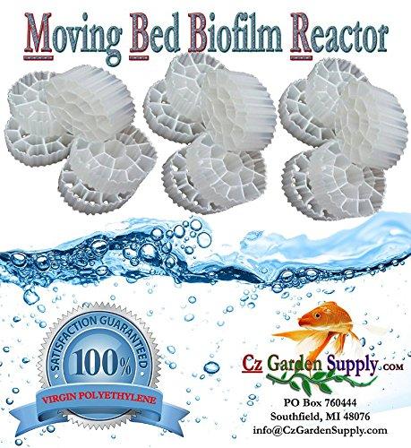 1 Cubic Foot K3 Filter Media Moving Bed Biofilm Reactor MBBR for Aquaponics • Aquaculture • Hydroponics • Ponds • Aquariums by Cz Garden Supply 1 Cubic Foot
