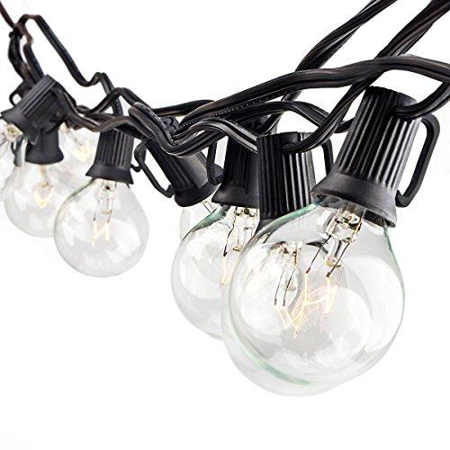 Zitrades Patio Lights G40 Globe Party String Lights Decorative Indoor Outdoor Lighting For Garden Patio Backyard
