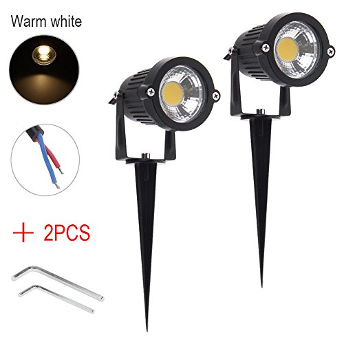 Iswees Bright Outdoor Lamp Garden Decor Lights 5w Cob Led Landscape Driveway Stairs Wall Yard Path Lighting Ac
