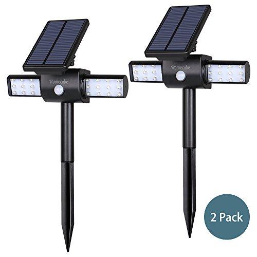 Solar Lights Homecube Landscape Lighting Solar Garden Lights Solar Power Outdoor Lighting Rotatable 24 Leds Spotlight