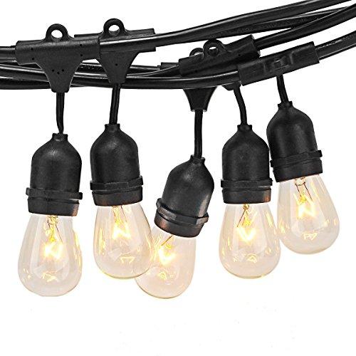 Zitrades Patio Lights Outdoor Globe String Lights Commercial E27 E26 Landscape Lighting For Garden Vintage Backyard