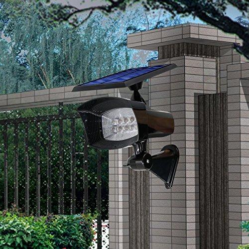 GMFive Super Bright 8 LED 400Lm 2 in 1 Installation Solar Powered Outdoor Garden SpotlightLandscape Lawn LightPathway LightNight LightEtc