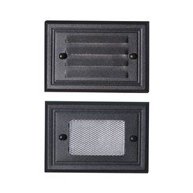 Oil Rubbed Bronze Low Voltage Deck Light - Includes Louvered Prism Lens Faceplates