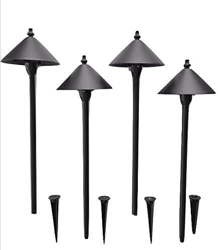 Pinnacle Lights Set of 4 - LED Scorpius Black Color Path Light Low Voltage Outdoor Landscape Lighting