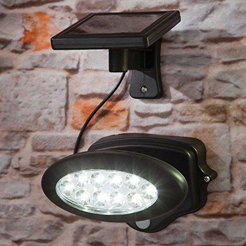 Bits and Pieces - Solar Powered Motion Sensor LED Spotlight - Powerful 35 Range Illuminates Your Driveway Walkway or Garden