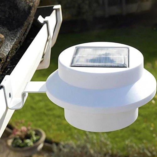 Pathway Light Solar Powered 3 LED Whitewarm Light Outdoor Fence Gutter Garden Yard Wall Walkway Lights Led