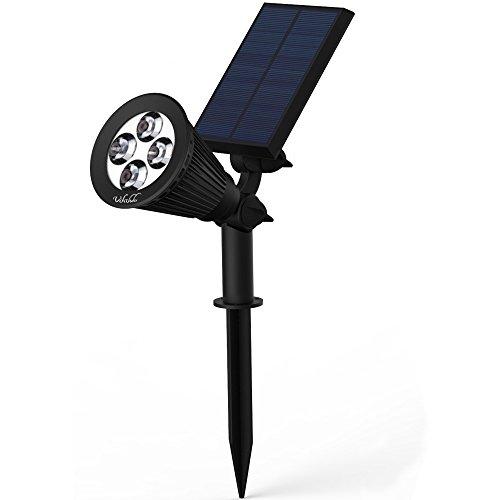 Solar Lightssolar Powered Spotlight 2-in-1 Adjustable 4 Led In-ground Light Landscape Wall Light Waterproof Security