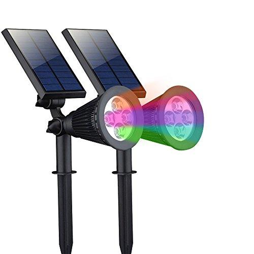 Zeefo Solar Spotlight Waterproof Outdoor Garden Landscape Lights 180&deg Adjustable In-ground Led Solar Powered Wall