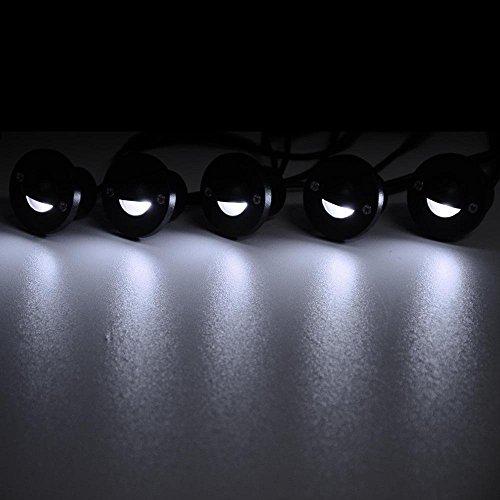 10 Pack LED Deck Light Kit Garden Landscape Lighting Cool White