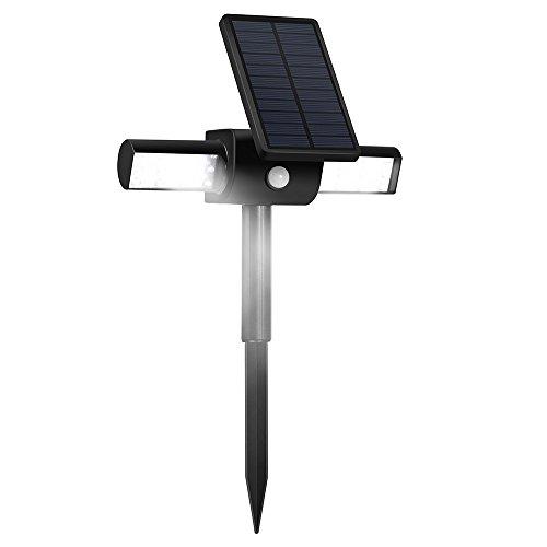 Solar Lights Lbell 360&deg Usb Solar Spotlight With Rotating Dual Head Waterproof Outdoor Landscape Lighting Garden