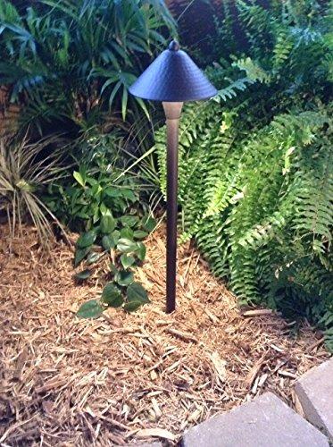 Dark Bronze Color Saturn Path Light By Pinnacle Lights - Led Low Voltage Outdoor Landscape Lighting
