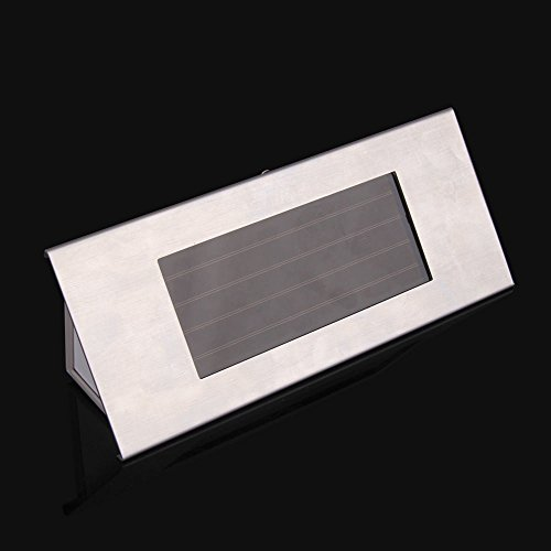 Pathway Light Solar Power 4 Leds House Address Number Stainless Steel Doorplate Light Lamp New Low Voltage Deck Lights