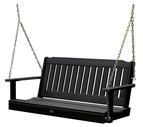 Highwood Lehigh Porch Swing 5 feet Black