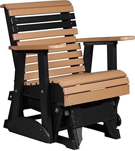 Outdoor Poly 2 Foot Porch Glider - Plain Rollback Design-cedar And Black Color