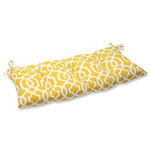 Pillow Perfect IndoorOutdoor New Geo Yellow SwingBench Cushion