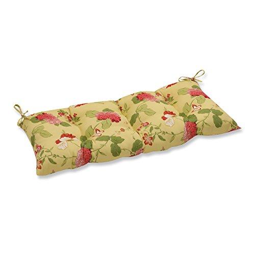 Pillow Perfect IndoorOutdoor Risa Lemonade SwingBench Cushion