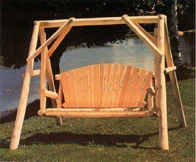 Lakeland Mills Cfu28 Cedar Log Outdoor Yard Swing 5-feet