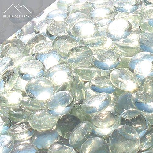 "Blue Ridge Brandâ""¢ Clear Reflective Fire Glass Beads - 5-Pound Professional Grade Fire Pit Glass - 34 Reflective Glass for Fire Pit and Landscaping"