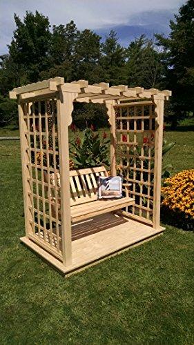 A L Furniture 5 Lexington Arbor with Deck Swing Walk Thru 60W x 40D x 78H Outside 75W x 47D x 87H Unfinished