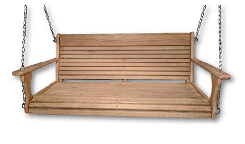 Wood Tree Swings-Cypress Porch SwingWood Porch SwingUSA MadeWooden Swing