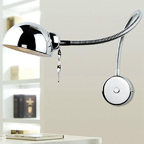 Modern Swing Arm Wall Lamp Flexible Tube Mirror Bathroom Bedroom Light