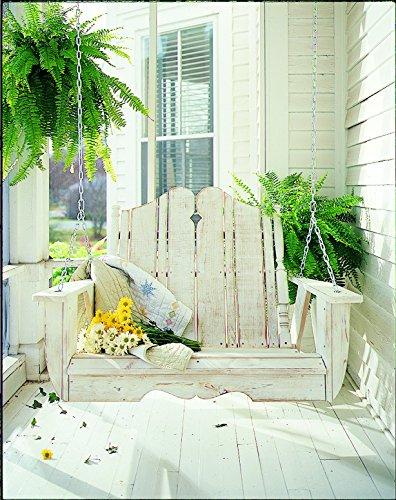 Uwharrie Chair Co N152-41-Rustic Red-Dist-Pine Nantucket Swing Rustic Red-Distressed