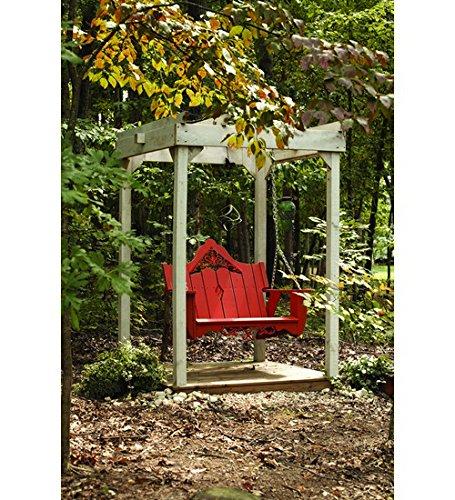 Uwharrie Chair Co V052-41-rustic Red-dist-pine Veranda Swing Rustic Red-distressed